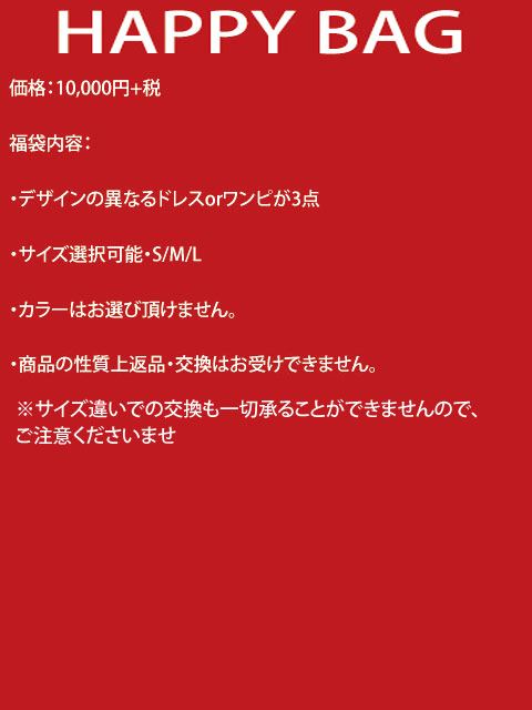 画像2: 【Aラインドレスが4着】福袋・Aラインオンリー・ドレス・ワンピース・HAPPYBAG[送料無料]