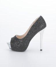 画像6: [靴]12cmヒール・前厚 4cmストーム・グリッター・メタルヒール・ハイヒール パンプス (6)