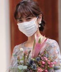 画像2: [マスク]シンプル・レースプリーツ・ドレスマスク ・ドレス用・パーティー用レースマスク・洗えるマスク (2)
