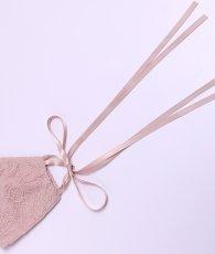 画像11: [マスク]レース・リボンマスク・結婚式用・パーティー用・ドレスマスク・おしゃれ・マスク・専用巾着袋付・洗えるマスク (11)