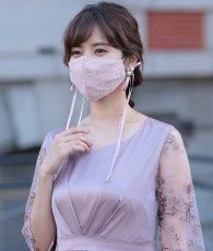 画像3: [マスク]レース・リボンマスク・結婚式用・パーティー用・ドレスマスク・おしゃれ・マスク・専用巾着袋付・洗えるマスク (3)