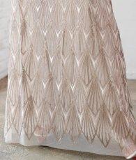 画像9: [BCBG MaxAzria]シャンパンゴールド・ノースリーブ・幾何学模様スパンコール刺繍・ロングドレス[山崎みどり着用]《送料&代引き手数料無料》 (9)