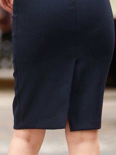 画像3: [お問い合わせ多数!!再入荷][韓国製][Rinfarre] [薗田杏奈着用]大人・バイカラー・ボレロ風・リボンモチーフ・七分袖・タイト・ミディアムドレス・ワンピース[送料無料]