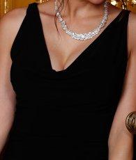 画像11: [韓国製][Rinfarre][山崎みどり・若尾綾香着用]胸元ドレープ・無地・シンプル・ノースリーブ・バックトレーン・マーメイド・ロングドレス《送料&代引き手数料無料》 (11)