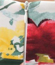 画像10: [韓国製][Rinfarre]カラフル・ボタニカル柄・フラワー・ベルト付き・Aライン・オープンショルダー・フレア・ミディアムドレス・ワンピース[薗田杏奈着用][薗田杏奈着用]《送料&代引き手数料無料》 (10)
