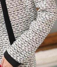 画像11: [韓国製][Rinfarre]ツイード・ブラックホワイト・ベア・ジャケット・タイト・ミディアムドレス・ワンピース・セットアップ[関あいか着用]《送料&代引き手数料無料》 (11)