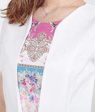 画像9: [韓国製][rinfarre]ホワイト・レイヤードスタイル・半袖・バックル・スカーフ・ミニ・ドレス・ ワンピース[MIRIN着用][送料無料] (9)