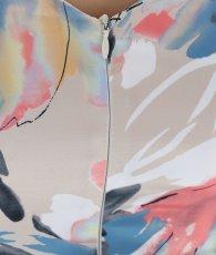 画像12: [韓国製][rinfarre]プリント・ペイント・マルチ・ハートカット・ノースリーブ・タイト・ミディアムドレス・ワンピース[山崎みどり着用][送料無料] (12)