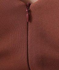 画像13: [韓国製][rinfarre]ブラウン・スカーフ柄・ケープ・七分袖・ベルト付き・タイト・ミディアム・ドレス・ワンピース[山崎みどり着用]《送料&代引き手数料無料》my (13)