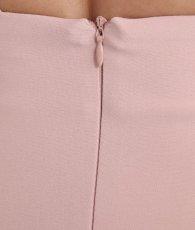 画像13: [韓国製][rinfarre]ピンクベージュ・シンプル・無地・Vネック・パフスリーブ・切り替え・背中開き・五分袖・タイト・ミディアムドレス・ワンピース[MIRIN着用][送料無料] (13)