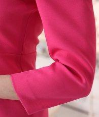画像12: [韓国製][rinfarre]チェリーピンク・シンプル・スワロビジュー・切り替え・七分袖・タイト・ミディアムドレス・ワンピース[山崎みどり着用]《送料&代引き手数料無料》my (12)