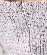 画像15: 韓国製[rinfarre]ツイード・パフスリーブ・半袖・タイト・ミディアム・ドレス・ワンピース[山崎みどり着用][送料無料]myall (15)