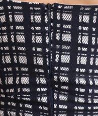 画像11: 韓国製[rinfarre]ネイビー・格子柄総レース・マーメイド・フリル・エレガント・ミディアム・ドレス・ワンピース[山崎みどり着用][送料無料]my (11)