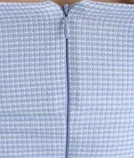 画像13: [韓国製][rinfarre]ライトブルー・肩リボン・ライトツイード・コルセット風・タイト・ミディアムドレス・ワンピース[MIRIN着用][送料無料] (13)