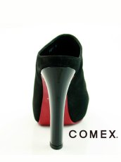 画像5: [一部予約販売][COMEX 日本製]ハイヒール・ピンヒール・ブラック・ミュール・サボ・サンダル《送料&代引き手数料無料》 (5)