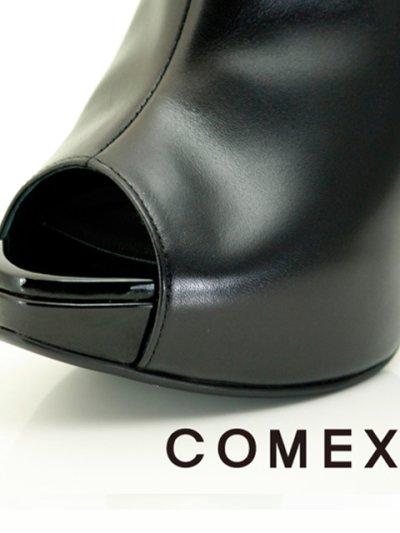 画像1: [一部予約販売][COMEX 日本製]ハイヒール・ピンヒール・ブラック・ミュール・サボ・サンダル《送料&代引き手数料無料》