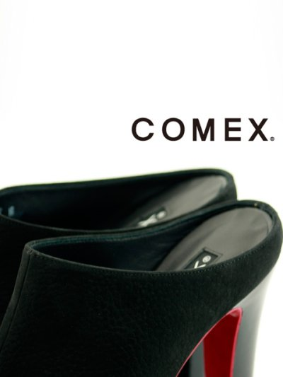 画像2: [一部予約販売][COMEX 日本製]ハイヒール・ピンヒール・ブラック・ミュール・サボ・サンダル《送料&代引き手数料無料》