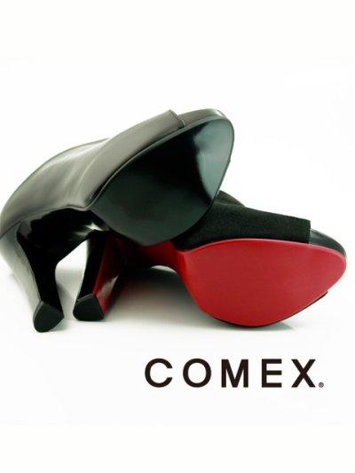 画像3: [一部予約販売][COMEX 日本製]ハイヒール・ピンヒール・ブラック・ミュール・サボ・サンダル《送料&代引き手数料無料》