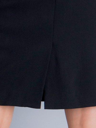 画像3: [SALE品のため返品不可][ERUKEI]チェック柄×ケミカルレース・フレンチスリーブ・タイト・ミディアムドレス・ワンピース