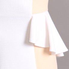 画像8: [SALE品のため返品不可&再入荷なしの現品限り][ERUKEI][山崎みどり着用][姉ageha]パールビジュー&シースルー・バイカラー・ぺプラム・ノースリーブ・タイト・ミニドレス・ワンピース (8)
