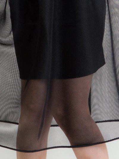 画像3: [SALE品のため返品不可&再入荷なしの現品限り][ERUKEI][薗田杏奈着用]ノースリーブ・デコルテシースルー・オーバーチュール・インナータイト・ミディアムドレス・ワンピース