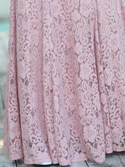 画像3: [ERUKEI][山崎みどり・薗田杏奈着用][姉ageha]総レース・エレガント・Vネック・ノースリーブ・タイト・マーメイドライン・ロングドレス[送料無料]【mpkor】