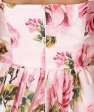 画像10: [SALE品のため返品不可&再入荷なしの現品限り][ERUKEI][関あいか着用]Aライン・花柄・ピンク系・フレア・サテン・ノースリーブ・ミディアムドレス (10)