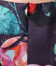 画像12: [ERUKEI]サテン・ピンク系・花柄・プリント・ノースリーブ・Aライン・ハイウエスト・ロングドレス[黒木麗奈着用]《送料&代引き手数料無料》 (12)