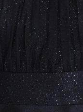 画像7: [SALE品のため返品不可&再入荷なしの現品限り][ERUKEI][山崎みどり着用]デコルテシースルー・半袖・透かし花柄・ラメ・ぺプラム・タイト・ミニドレス・ワンピースmpkbk_ (7)