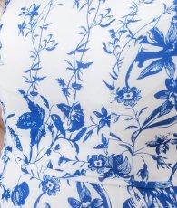 画像10: [ERUKEI]ホワイトベース・ブルー花柄・ノースリーブ・Aライン・フレア・ミディアムドレス・ワンピース[山崎みどり着用][送料無料]mypr (10)