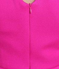 画像14: [ERUKEI]ビビットカラー・シンプル・無地・ぺプラム・Vネック・ノースリーブ・タイト・ミニドレス・ワンピース[MIRIN・薗田杏奈着用][送料無料] (14)