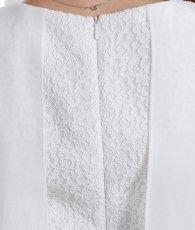 画像10: [ERUKEI]ホワイトレース×ミント・シフォンポイント・タイト・ノースリーブ・ ミニ・ワンピース・ドレス[MIRIN着用][送料無料] (10)
