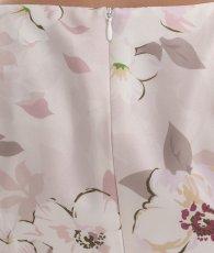 画像11: [ERUKEI]ピンク系・花柄・プリント・ウエスト切り替え・ノースリーブ・Aライン・フレア・ミディアムドレス・ワンピース[山崎みどり着用][送料無料] (11)