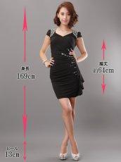 画像5: [SALE品のために返品不可][Glitter][BLENDAモデル ソンイ着用]肩&左サイドビジュー・タイト・ワンピース・ミニドレス (5)