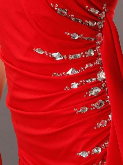 画像1: [SALE品のために返品不可][Glitter][BLENDAモデル ソンイ着用]肩&左サイドビジュー・タイト・ワンピース・ミニドレス