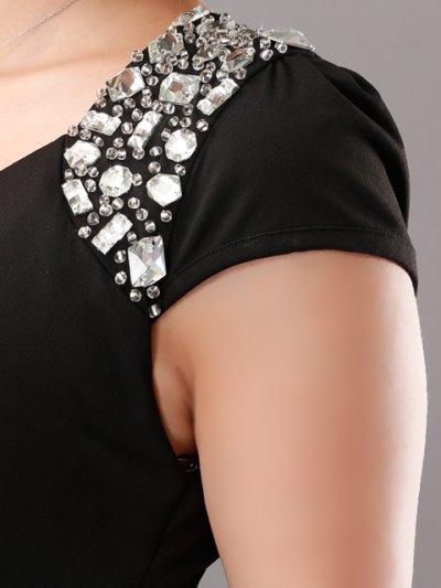 画像3: [SALE品のために返品不可][Glitter][BLENDAモデル ソンイ着用]肩&左サイドビジュー・タイト・ワンピース・ミニドレス