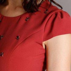 画像9: [SALE品のため返品不可&再入荷なしの現品限り][ERUKEI][山崎みどり着用][姉ageha]お花型ビジュー・半袖・フレンチスリーブ・タイト・ミニドレス・ワンピースmrd_ (9)