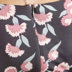 画像8: [SALE品のため返品不可&再入荷なしの現品限り][ERUKEI][山崎みどり着用][姉ageha]パフスリーブ・半袖・グレーパープル×ピンク花柄・Uネック・ミニドレス・ワンピース[送料無料]m_ (8)