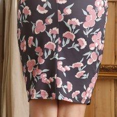 画像9: [SALE品のため返品不可&再入荷なしの現品限り][ERUKEI][山崎みどり着用][姉ageha]パフスリーブ・半袖・グレーパープル×ピンク花柄・Uネック・ミニドレス・ワンピース[送料無料]m_ (9)