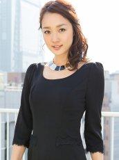 画像4: [SALE品のため返品不可&再入荷なしの現品限り][ERUKEI][神田咲実着用]ブラック・裾レース・七分袖・シンプル・ミニドレス・ワンピース (4)