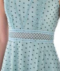 画像11: [ERUKEI Settan]ミントグリーン・ドット・半袖・ひざ下・Aライン・ミディアム・ハイウエストドレス・ワンピース[宮内理沙着用]《送料&代引き手数料無料》 (11)
