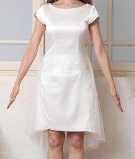 画像6: [ERUKEI Settan]ホワイト・首元パール・シンプル・バックチュール・スパン・半袖・ミニドレス・ワンピース[山崎みどり着用]《送料&代引き手数料無料》my (6)