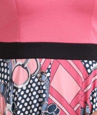画像12: [ERUKEI Settan]アシメントリー・ポップ系スカーフ柄・Vネック・ノースリーブ・Aライン・ミディアムドレス・ワンピース[山崎みどり着用]《送料&代引き手数料無料》myall (12)
