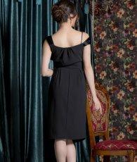 画像3: [ERUKEI Settan][山崎みどり着用][姉ageha]ブラック・シンプル・無地・リボンポイント・フレア・ミディアムドレス・ワンピース《送料&代引き手数料無料》mbk (3)
