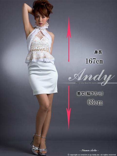 画像5: [青田夏奈ちゃん着用][ANDY]ホワイト・贅沢パール&ビジュー・高級レース・ホルタ・ミニドレス・ワンピース《送料&代引き手数料無料》