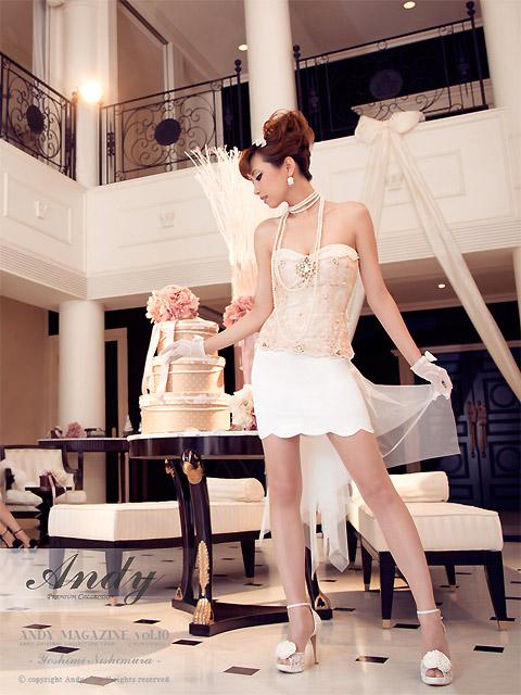 画像1: [ANDY]リボンチュール・スカラーカットスカート・ミニドレス・ワンピース《送料&代引き手数料無料》