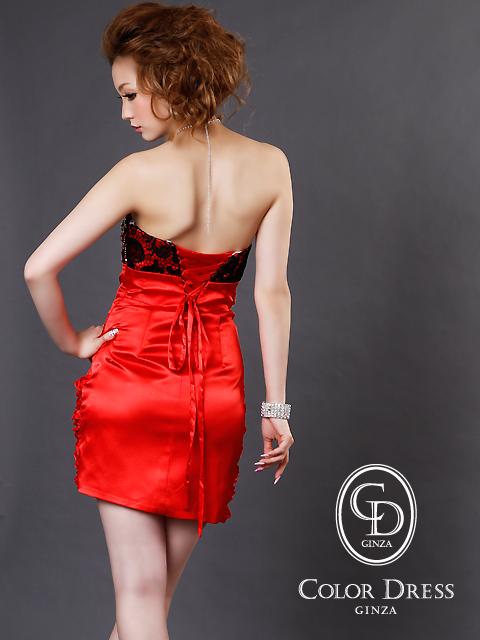 画像3: [SALE品のために返品不可]ブラックフラワーレース・裾フリル・ベア・ミニドレス・ワンピース[送料無料]