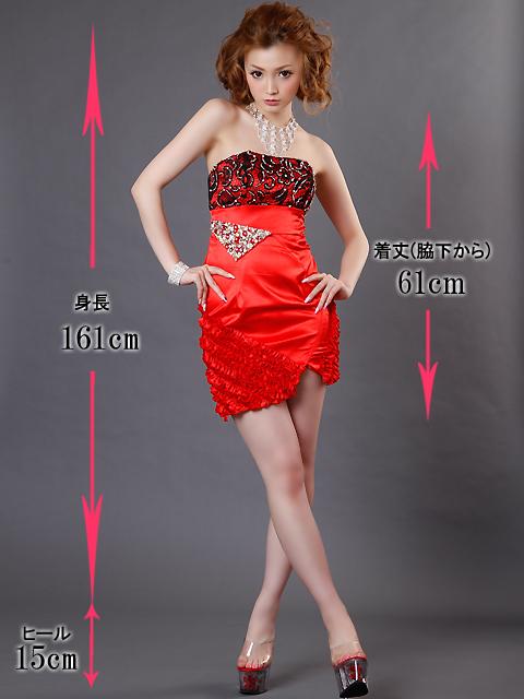 画像5: [SALE品のために返品不可]ブラックフラワーレース・裾フリル・ベア・ミニドレス・ワンピース[送料無料]