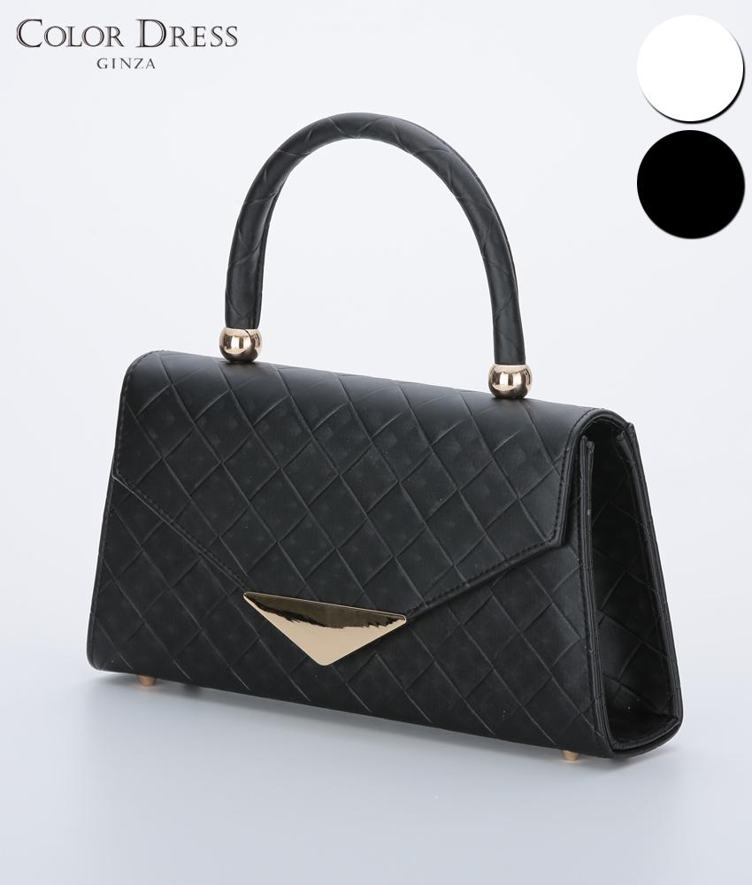 画像1: [バッグ]ハンドル付き・シンプル・2WAY・チェーン・ハンドバッグ