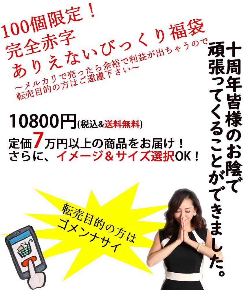 画像4: [予約][12/25までの購入で2019円クーポン付][4着以上確定]サイズ・タイプが選べる福袋・ドレス・ワンピース HAPPYBAG[送料無料]
